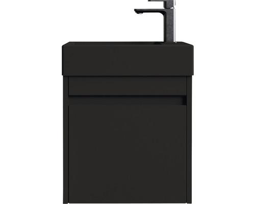 basano Gäste-Badmöbel-Set Avellino matt schwarz 54x28 cm