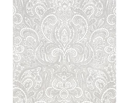 Vliestapete 87195-HOR Pure & Noble I Glasperle Diamond Coconut Silver
