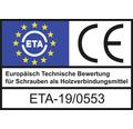 HECO-TOPIX-plus Holzschraube Senkkopf mit Frästaschen TX Teilgewinde 8x120 mm blau verzinkt 100 Stück