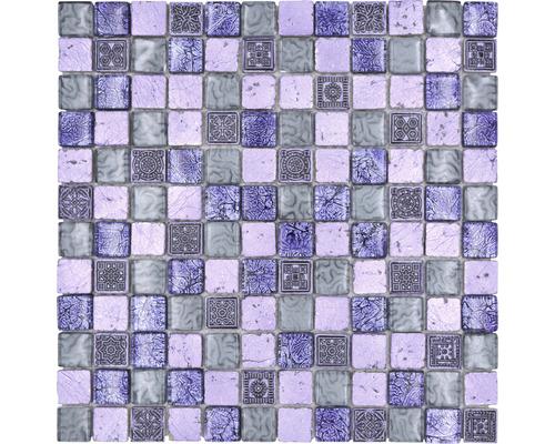 Glasmosaik XCM CB74 Mix lila 30x30 cm