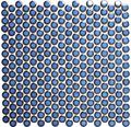 Keramikmosaik Knopf 451N kobaldblau glänzend 32x30,5 cm
