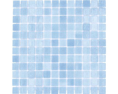 Glasmosaik VP501PUR für Poolbau blau 31,6x31,6 cm