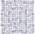 Glasmosaik XCM RW09 Grau Holzoptik 30x30 cm