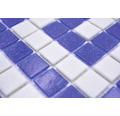 Glasmosaik GM BO 16P für Poolbau blau 21,7x21,7 cm