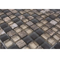 Glasmosaik XCM M580 Mix braun 30x30 cm
