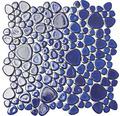 Keramikmosaik XKM 451N kobaldblau matt 27,5x27,5 cm