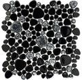 Keramikmosaik XKM 892N schwarz matt 27,5x27,5 cm
