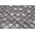 Glasmosaik XCM M590 Mix grau 30x30 cm