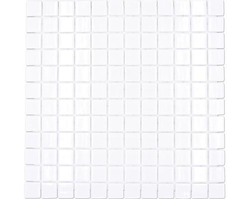 Glasmosaik VP100PUR für Poolbau weiß 31,6x31,6 cm