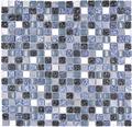 Glasmosaik XCM M670 Mix blau/grau 30x30 cm