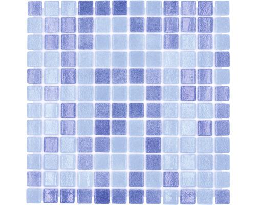Glasmosaik VP1158PUR für Poolbau blau 31,6x31,6 cm
