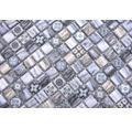 Glasmosaik XCM RW49 grau/blau 30x30 cm