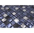 Glasmosaik XCM M660 Mix schwarz/siber 30x30 cm