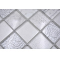 Glasmosaik XCM WL18 weiß Reptilienhaut-Optik 29,8x29,8 cm