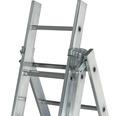 CLASSIK Mehrzweckleiter 3 x 9 Sprossen Aluminium Länge 2,60 - 5,40 m