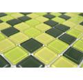 Glasmosaik CM 4454 mix grün 32,7x30,2 cm