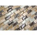 Glasmosaik mit Naturstein XIC B1153 braun/beige 30x28,5 cm