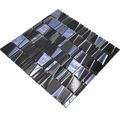 Glasmosaik mit Naturstein XCM LA29 mix schwarz 30x30 cm
