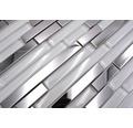 Glasmosaik XAM A863 weiß/silber 29,8x29,8 cm