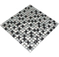 Glasmosaik XCE 88 mix silber/schwarz 30,5x32,2 cm
