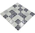 Glasmosaik XCM 8OP1 weiß/schwarz 30x30 cm