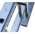 WERNER Seilzugleiter 2-teilig 2 x 16 Sprossen Aluminium Länge 4,55 - 7,65 m