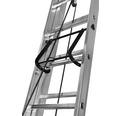 WERNER Seilzugleiter 3-teilig 3 x 15 Sprossen Aluminium Länge 4,35 - 10,50 m
