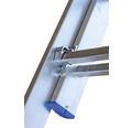 WERNER Schiebeleiter 2 x 8 Sprossen Aluminium Länge 2,30 - 3,70 m