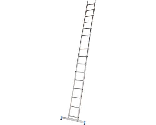 WERNER Anlegeleiter 16 Sprossen Aluminium Länge 4,50 m