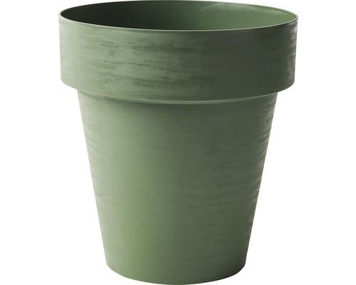 Blumentopf Time Ø 30 cm H 28 cm aus recyceltem Kunststoff grün