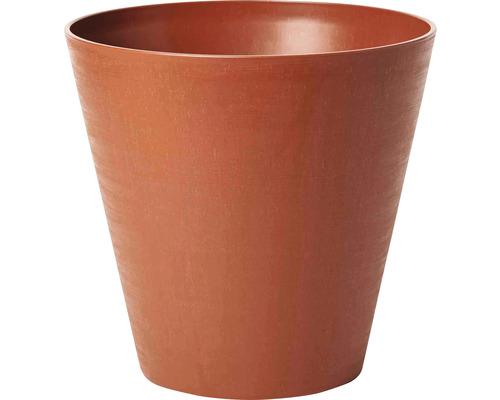 Blumentopf Hope Ø 25 cm H 23,5 cm aus recyceltem Kunststoff braun