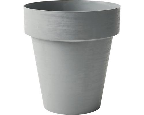 Blumentopf Time Ø 35 cm H 38 cm aus recyceltem Kunststoff grau