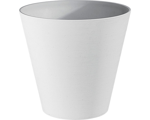 Blumentopf Hope Ø 16 cm H 15 cm aus recyceltem Kunststoff weiß