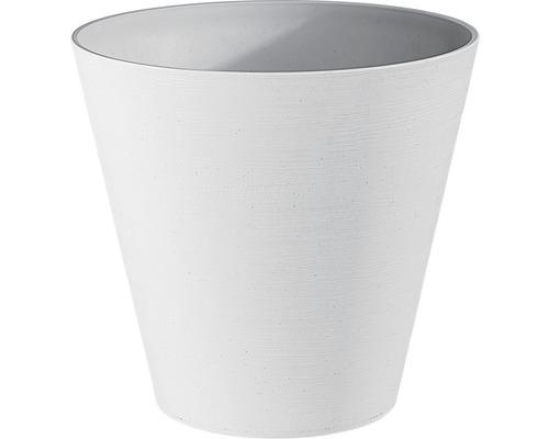 Blumentopf Hope Ø 20 cm H 19 cm aus recyceltem Kunststoff weiß