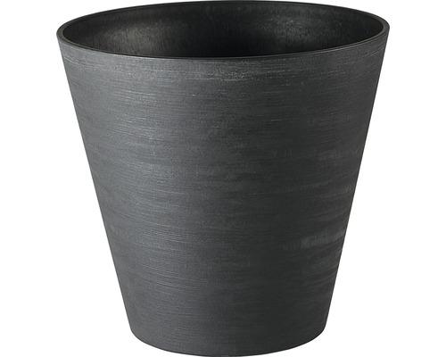 Blumentopf Hope Ø 20 cm H 19 cm aus recyceltem Kunststoff schwarz