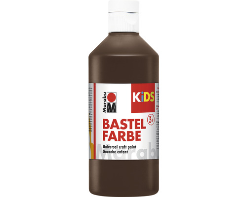 Marabu KiDS Bastelfarbe dunkelbraun 045 500ml