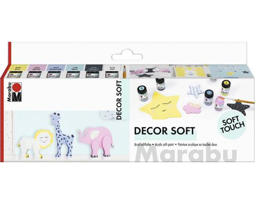 Marabu Decor Soft Starterset 6x 15 ml
