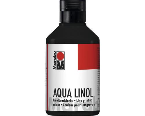 Marabu Aqua-Linoldruckfarbe schwarz 073 250ml