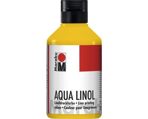 Marabu Aqua-Linoldruckfarbe mittelgelb 021 250ml