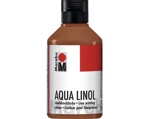 Marabu Aqua-Linoldruckfarbe mittelbraun 040 250 ml