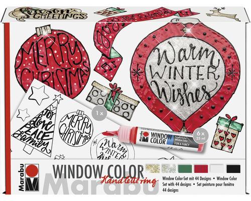 Marabu Window Color Set Handlettering Xmas 6x 25ml