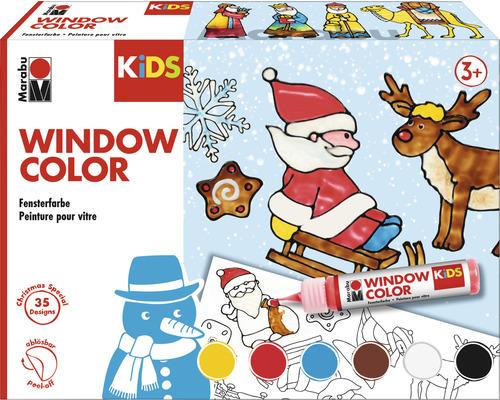 Marabu KiDS Window Color Set Xmas 6x25ml