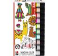 "Marabu Window Color Set ""Lama"" 10x 25 ml"