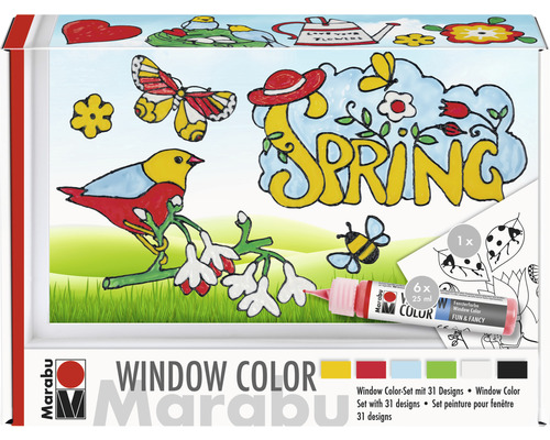 Marabu Window Color Set Spring-Time 6x25ml