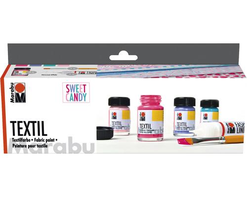 "Marabu Textil Trend-Set ""Sweet Candy"" 4x 15ml"