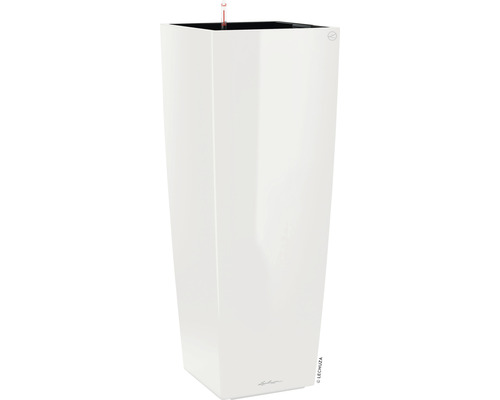 Pflanzvase Lechuza Cubico Alto 40 Komplettset H 105 cm weiß