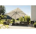 Schneider Ampelschirm Gartenschirm Rhodos Twist 300 x 300 cm quadratisch natur