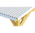 PRECIT Rinneneinhang 45° für Trapezblech H18 verzinkt 1000 x 130 x 0,4 mm