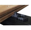 Konsta Terrafix Abstandhalter 7 mm schwarz Pack = 50 Stück