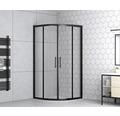 Runddusche form&style Moorea black R550 80 x 80 cm Klarglas Profilfarbe matt schwarz